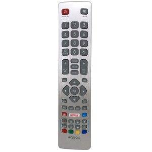 Image 4 - جهاز التحكم عن بعد الأصلي الجديد لشارب Aquos HD تلفاز LED ذكي DH1901091551 مع مفتاح نيتفليكس يوتيوب Fernbedienung