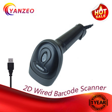 Yanzeo C2000 Wired 1D 2D QR Laser Barcode Scanner Handheld Reader Bar Code Scanner For POS System Warranty 12 Months wholesale qr barcode scanner rakinda wired handheld 1d 2d usb ccd barcode reader for mobile