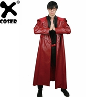 XCOSER 2018 New Design Top Selling Fullmetal Alchemist Cosplay Edward Elric Full Set Costume PU Leather & Polyester Fiber Suit