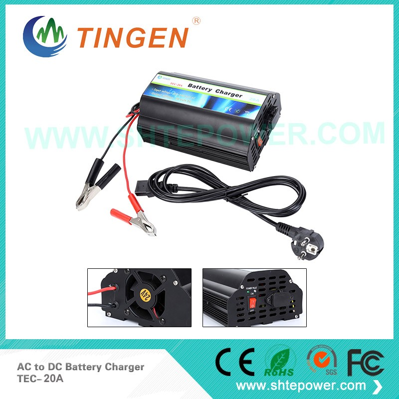 intelligent 3 stage ac to dc 20 amp 24 volt battery charger deep cycle charging space stage 3