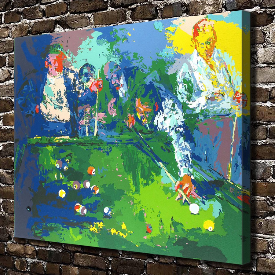 A1936 LeRoy Neiman Abstract Play Billiards Landscape, HD Canvas Print Home decoration Living Room Wall pictures Art painting