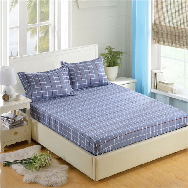 Wonderful 1pc 100%Polyester Fitted Sheet Mattress Cover Printing Bedding Four Corners  With Elastic Band Bed