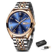 Relojes Hombre New Mens Watches LIGE Top Brand Luxury Men Waterproof Quartz Clock Men's Fashion Business Watch Relogio Masculino