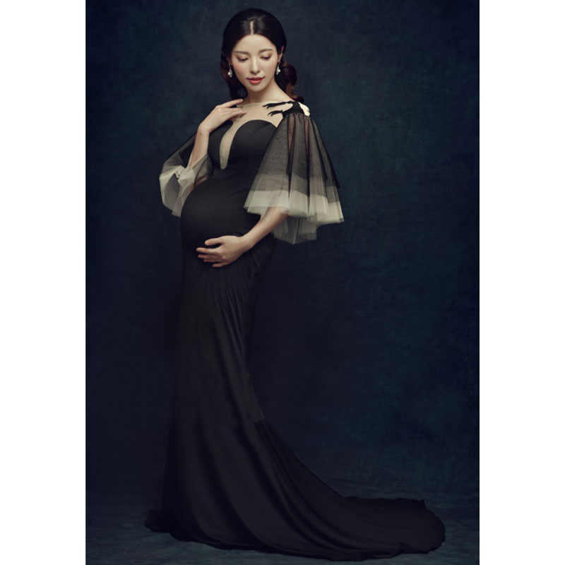 906d730e02 Long Trailing Dress Maternity Photography Props Pregnancy Dress Photography  Maternity Dresses For Photo Shoot Vestidos Pregnant