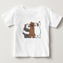 We Bare Bears T-shirt children Short Sleeve Casual baby boy tee summer clothes T Shirt For girls 2018 kids t shirts 3T-8T  NN недорго, оригинальная цена