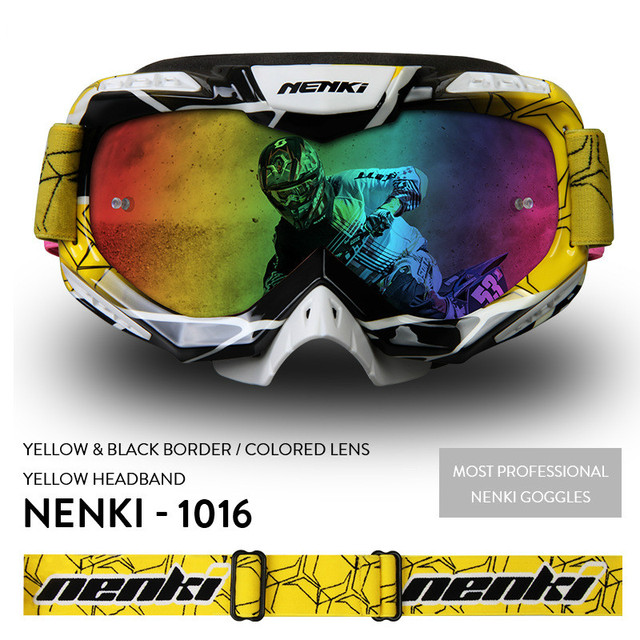 cd622baf67b8 Genuine NENKI high grade cross country goggles 1016 riding goggles  windshield dustproof off-road glasses for unisex