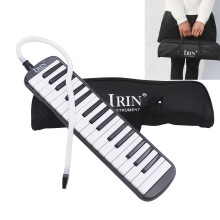 RU New Style 32 Keys Piano Pipe & Mouthpiece Black Melodica Musical Instrument For Music Lovers Beginners Gift With Carrying Bag