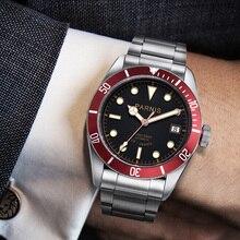 41 мм Parnis автоматические часы Для мужчин полный Нержавеющая сталь световой авто-дата 21 jewle Элитный бренд Для Мужчин's Деловые часы wristwach