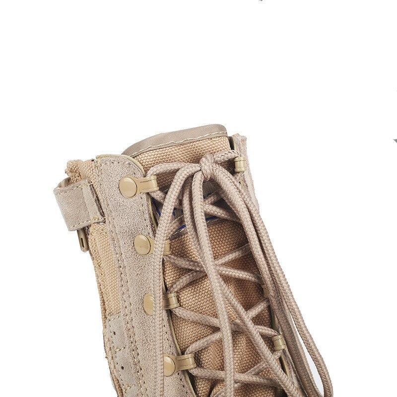 Haute 2018 D'hiver Beige De Nouveau En Cuir Travail Hommes Coton Plein Tactique Choc Air Chaussures Bottes top XUUpPqwr