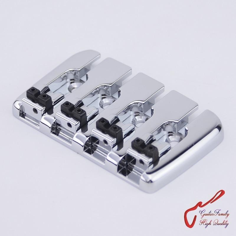 1 Set High Quality GuitarFamily  Bass Bridge For 4 Strings Electric Bass  Chrome  ( #0823 )   MADE IN KOREA