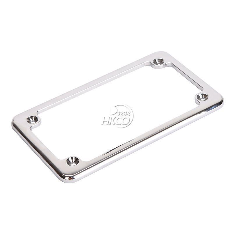 motorcycle chrome license plate frame