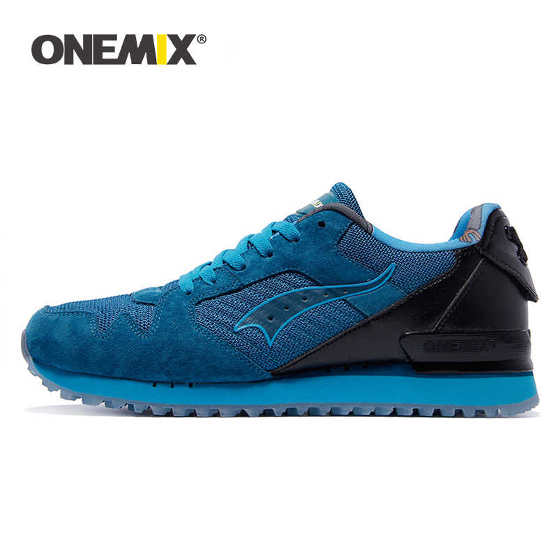 Onemix men classic retro running shoes lightweight sneakers for outdoor sports walking sneakers jogging trekking shoes  for men