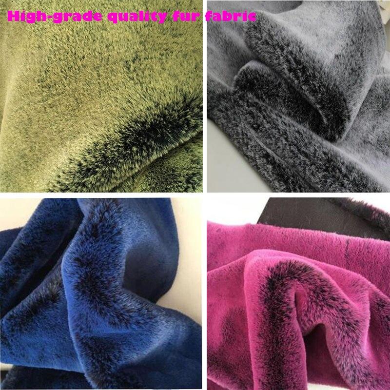 Haute qualité fausse fourrure tissu 160x50cm1pc 8 couleurs doux lapin doux en peluche fausse fourrure tissu couture vêtement bricolage col vêtements fourrure-in Fourrure from Maison & Animalerie    1