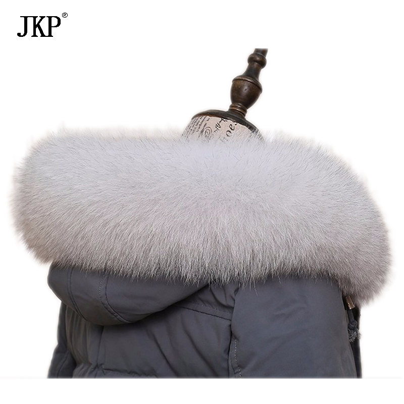 Winter Genuine Fox Fur Collar Scarf Coat Hat Fur collar warm Trim Fox Fur Collar Scarves Custom