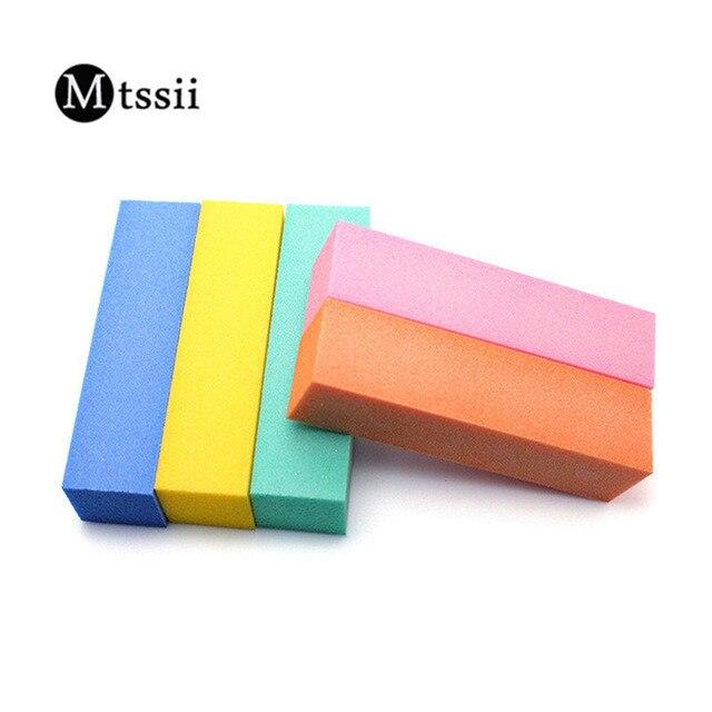5colors Random Delivery Nail Art Buffer Brick Shaped Sanding Block Manicure Care Buffing Sand Polishing