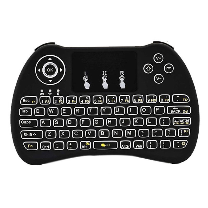 Backlit Wireless Keyboard H9 With Touchpad Mouse Handheld Remote Keyset For PC Pad Android TV Box Google HTPC IPTV