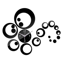2016 hot sale acrylic mirror stickers watch diy wall clock clocks Home Decoration Quartz Living Room Large table free shipping