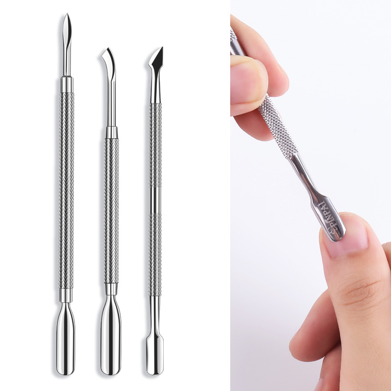 1pcs/ Lot Cuticle Pusher Cutter Nail Tools Clipper Nail Treatments Nail Care Stainless Steel Manicure Tools Nail Scissors