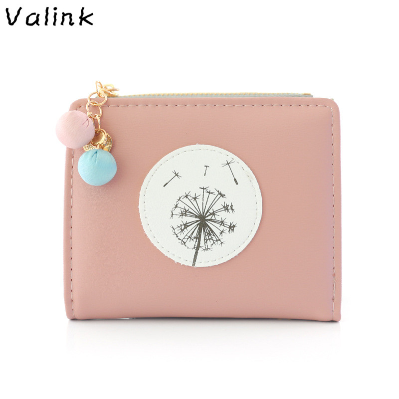 Lovely Ladies Zipper Hasp Purse Small Change Card Holders Simple Fashion Women Female Short PU Leather Wallet Portefeuille Femme