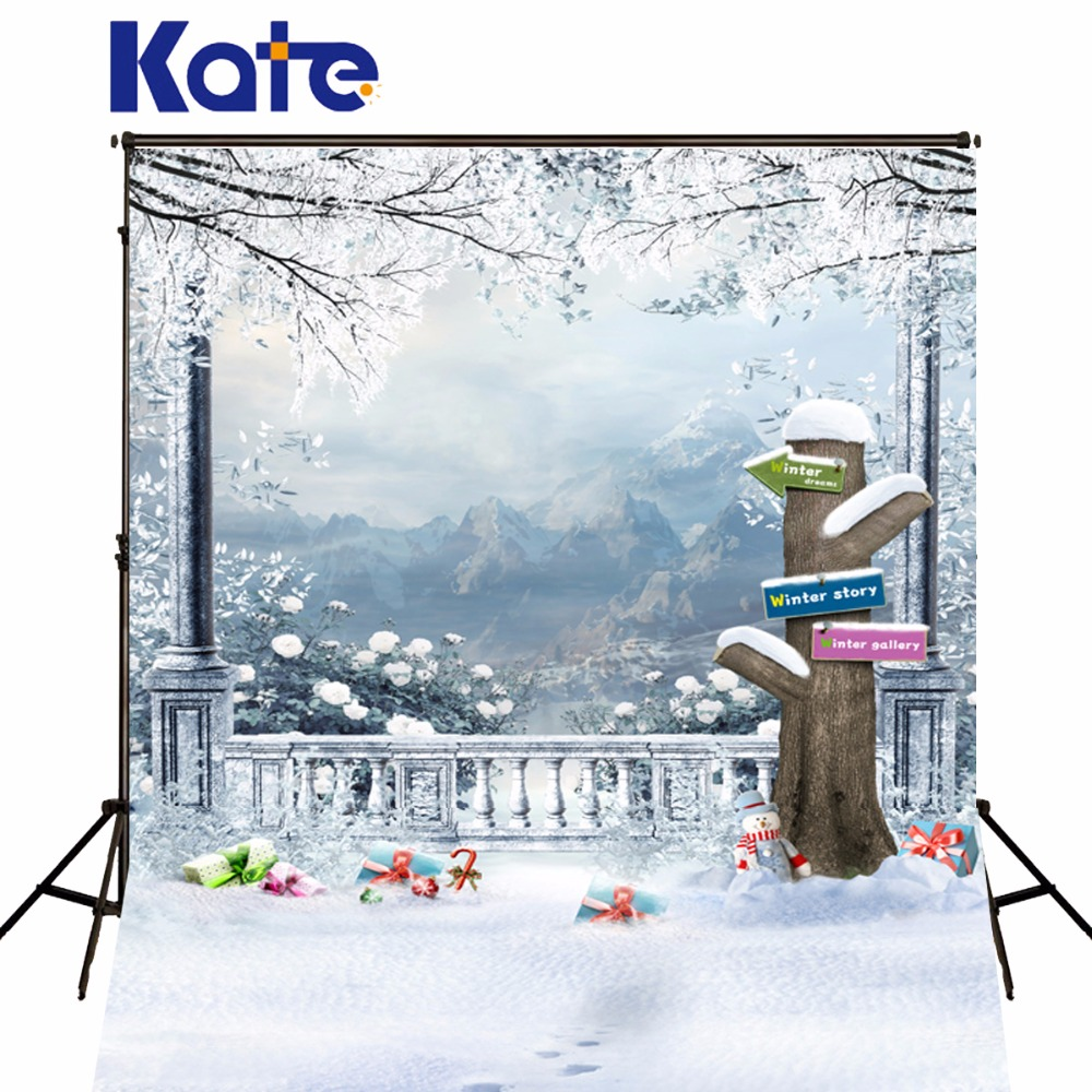 Kate Photo Background Cloth Christmas Backdrops Photography Xmas Winter Snow Backgrounds For Photo Studio Fotografia fashion women s crossbody bag with rivets and black color design
