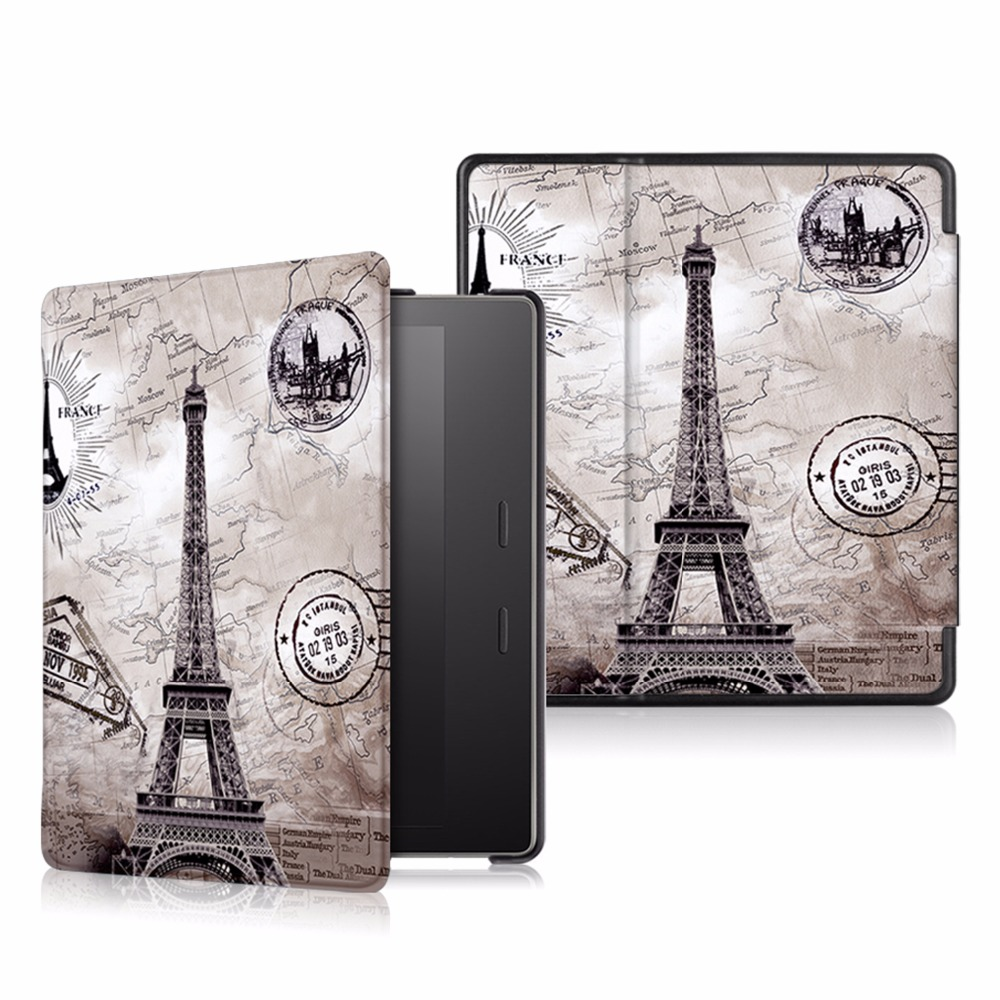 Cover case for Amazon kindle oasis 2017 slim case for Kindle oasis 2 (2017 new release) cartoon painted flower owl for kindle paperwhite 1 2 3 case flip bracket stand pu cover for amazon kindle paperwhite 1 2 3 case