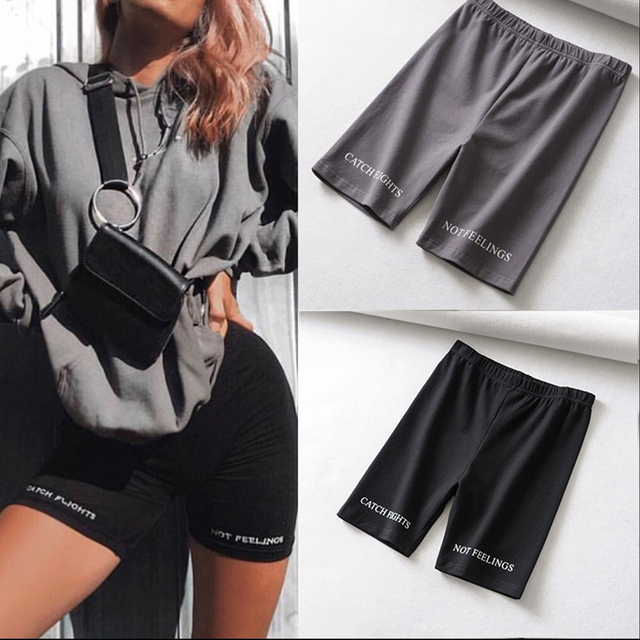 High Waist Fashion shorts women sexy biker shorts fitness Korean casual sexy short cotton black Cycling Shorts