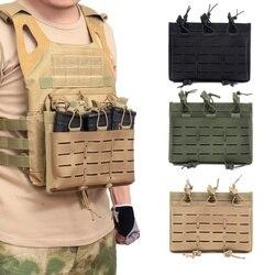 Tactical MOLLE Triple Open-Top etui na czasopisma szybka AK AR M4 FAMAS Mag etui Airsoft wojskowy sprzęt do paintballa