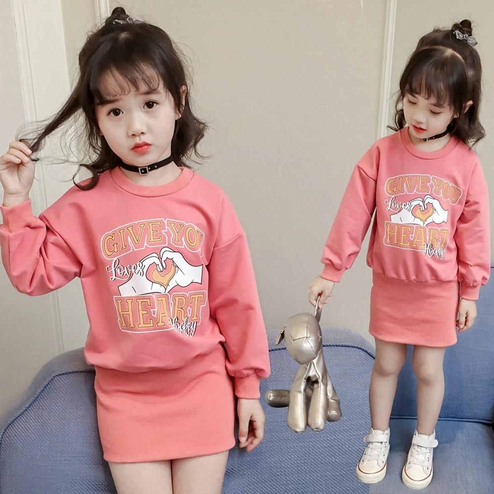 Mädchen Hüfte Kleid Schöne Druck Kleid für Mädchen Anziehen Kleidung für  Kleine Mädchen Lange T shirt Kleid Baby Jeden Tag Dresse Heißer verkauf