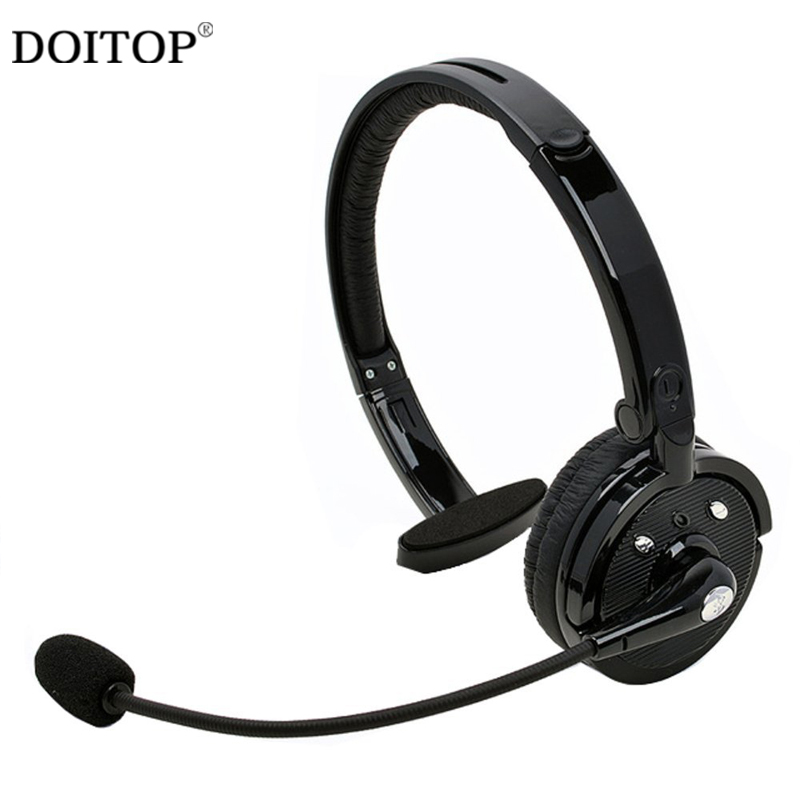 цена на DOITOP Wireless Bluetooth Sport Headset Headphones Business Noise Reduction Mono Earphone With Mic Earbud For PS3 Phone PC A3