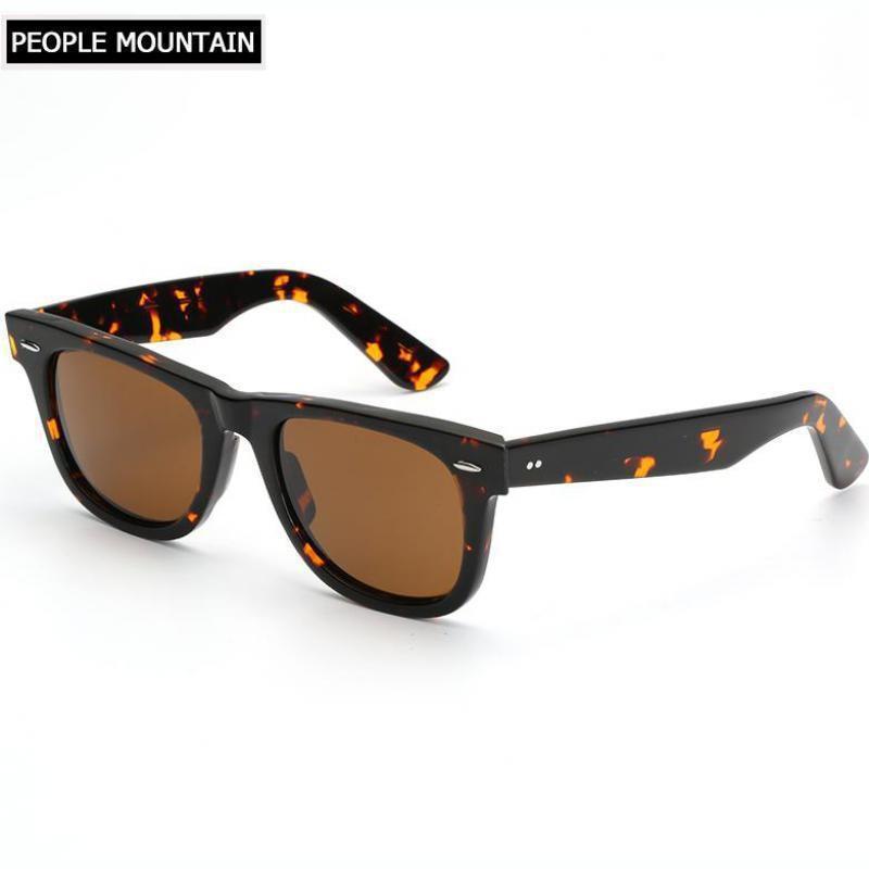 4d79ba2d4d5e9 Clássico Marca Acetato De Lente de Vidro Óculos De Sol Dos Homens Retro  Quadrados Óculos de Sol Das Mulheres de Condução Espelho UV400 Óculos  Masculinos ...