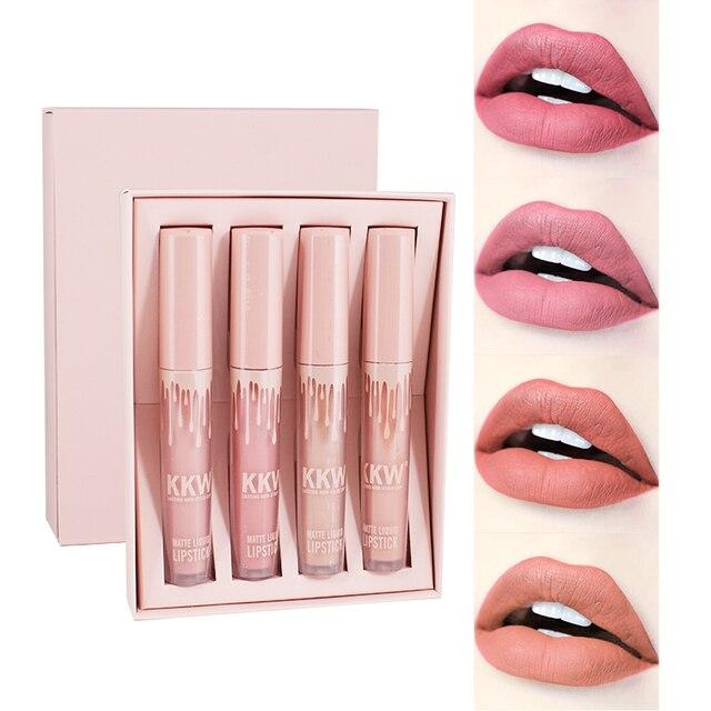 איפור עמיד למים נוזל גלוס פופ מט Llipstick שנמשך שפתיים גוון אדום פופ Kyliejenner שפתונים