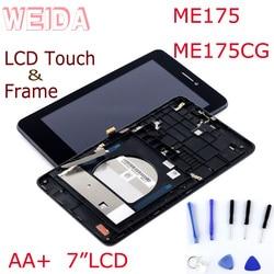 Wyświetlacz LCD WEIDA do ekranu dotykowego Asus MemoPad HD7 ME175 zamiennik zespołu panelu LCD z ramką ME175CG K00Z