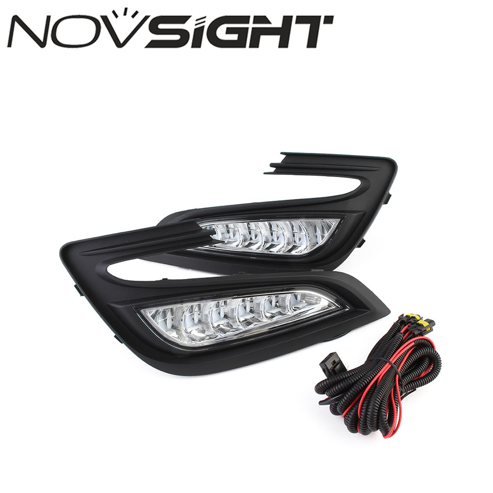 NOVSIGHT Car LED DRL Auto Daytime Running Light Driving Lamp Set White For Buick Encore 2017 z15 dual core wcdma smart wrist watch phone w 1 54 screen bluetooth 4gb rom wi fi gps black