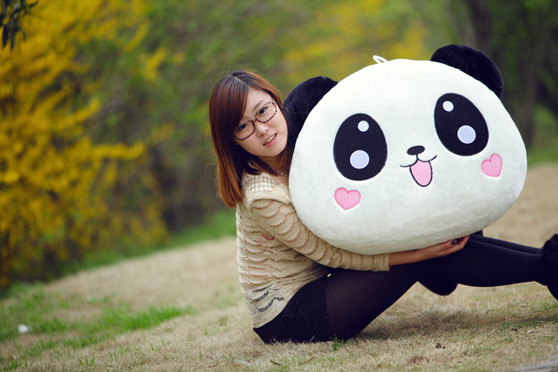cute cartoon panda plush toy large 90cm lying giant panda soft doll throw pillow Christmas gift s2379 1pc oversize huge 80cm funny stuffed simulated panda toy giant filling panda plush doll nice gift and decoration
