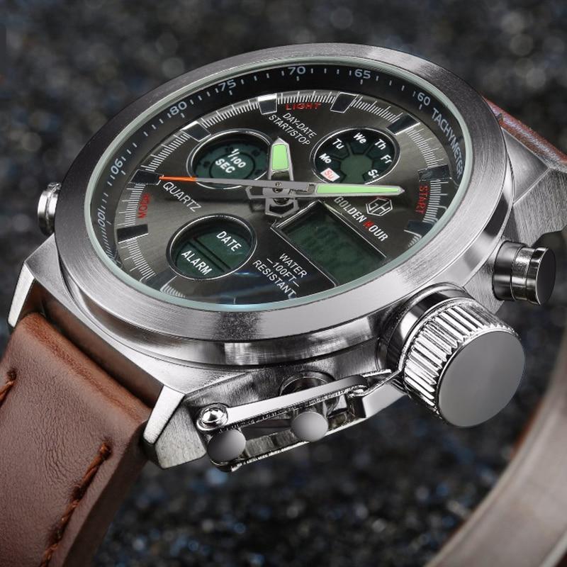 619a1f72bc8d Hombres relojes militares analógico Digital LED reloj de cuarzo relojes  para hombre marca de lujo hombre deportes reloj resistente al agua reloj  Masculino