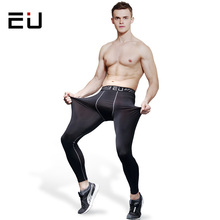 EU Men's Running Pants Men Quick Dry Breathable Training Compression Tights High Quality Men Running Fitness Gym Sport Leggings