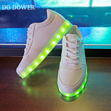 2017 Fashion Luminous Sneakers USB Charger Lighted Shoes for Boy Girl Glowing Sneakers Kids Light Up