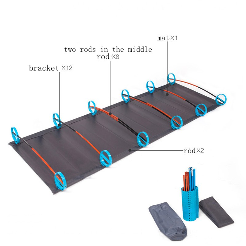 Image 3 - VILEAD Ultralight Folding Camping Cots 180*58 cm Bed Aluminum Comfortable Portable Waterproof for Self drive Travel Camping Beds-in Camping Cots from Sports & Entertainment