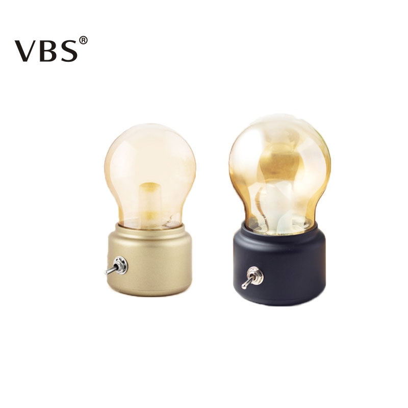 Metal Retro Bulb Rechargeable Vintage In Light 63 Usb Switch Night Atmosphere Us7 Art Desk creative Lamp 29Off Led 5v Lever IeEYb2WDH9