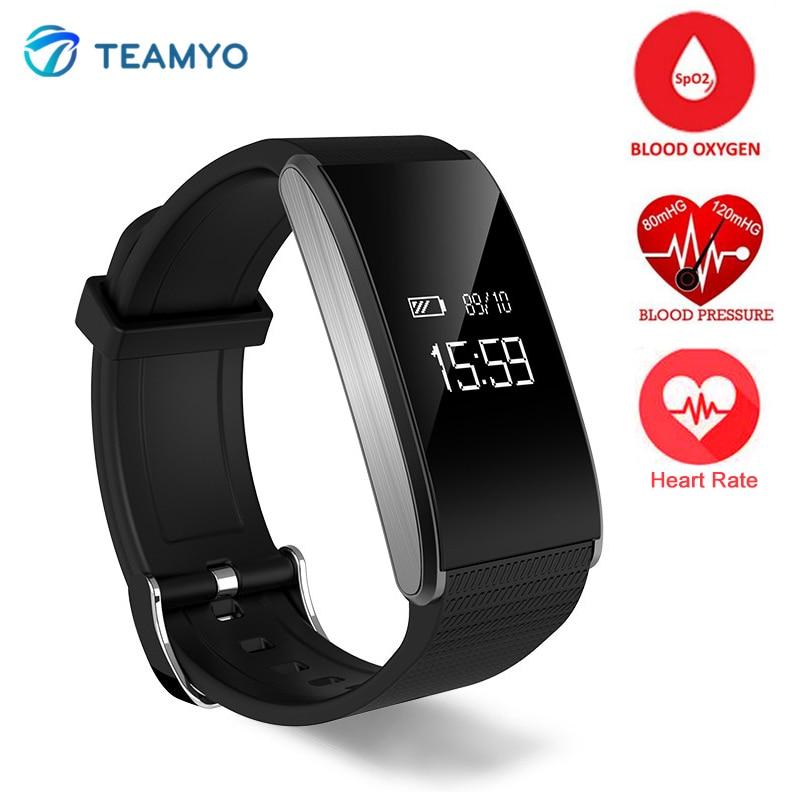 ФОТО TEAMYO A58 Heart Rate Smartband Blood Pressure Watch Bracelet Blood Oxygen Monitor IP67 Waterproof Wristband With Remote Camera