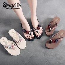 3b6f2fe571352 Dziewczyny kapcie dla dzieci plaża klapki japonki moda casualowe sandały  kwiat kobiety kapcie domowe 2019 lato