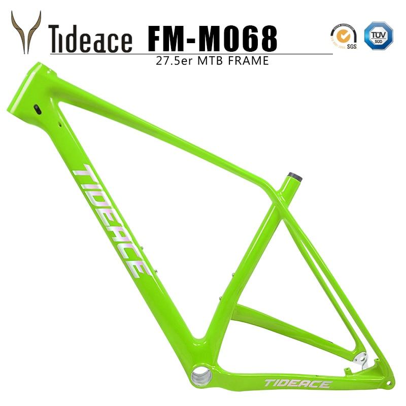 Tideace Hardtail 27.5er Full Mtb Carbon Frame Carbon Mountain Bicycle Frame 27.5 Plus Full Carbon Fiber OEM Boost Mountain Fram