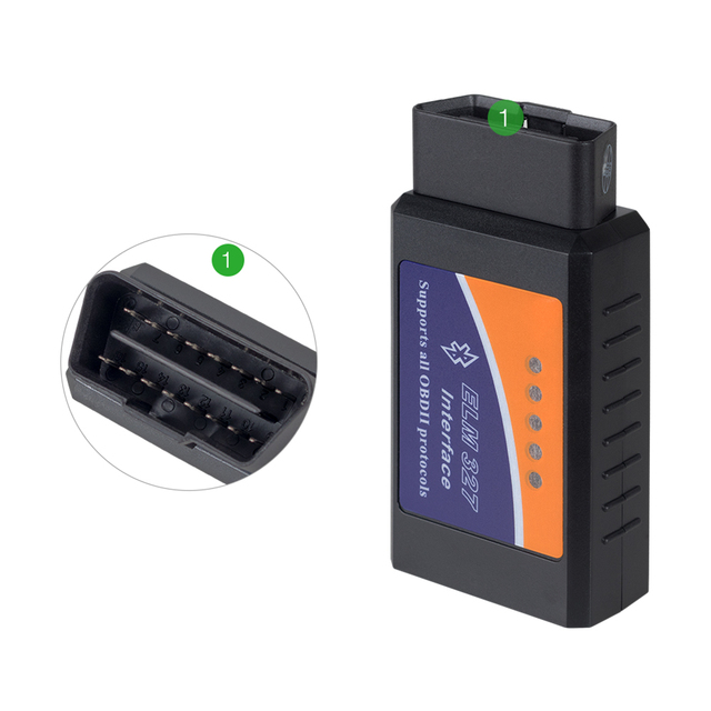 Real PIC18F25K80 Chip ELM327 Bluetooth Hardware V1.5 Interface ELM 327 OBD2 OBD 2 Auto Diagnostic-tool Work On Android/PC Torque