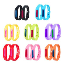1pcs Random Anti Mosquito Pest Insect Bugs Repellent Repeller Wrist Band Bracelet Wristband From Mosquitoes for The Children C