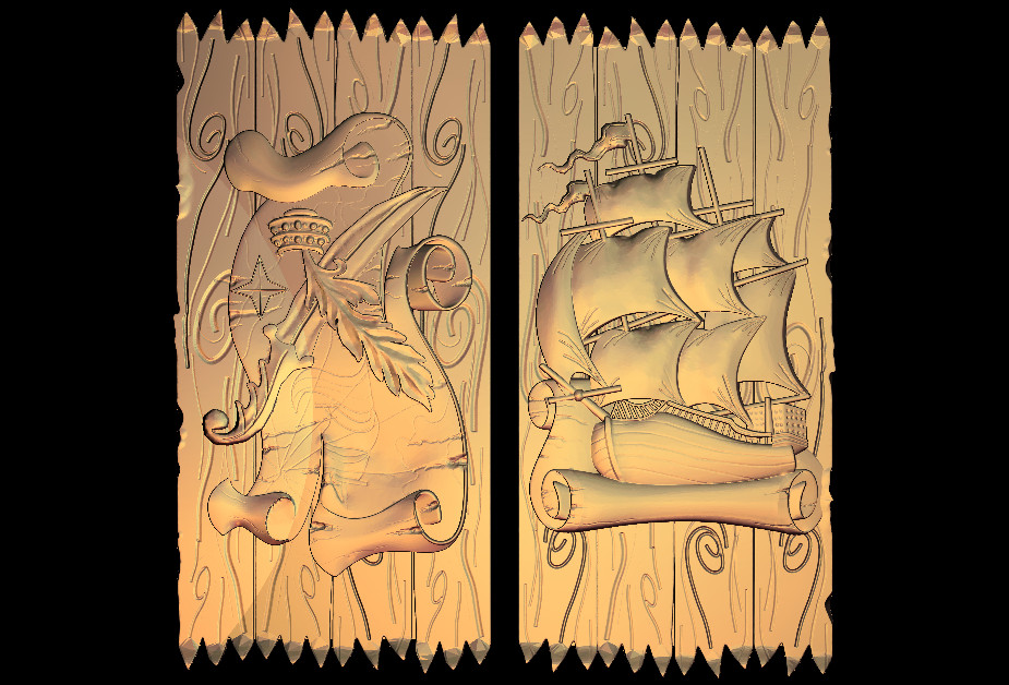 3D Relief Model In STL Format CNC Router Carving Engraving Artcam Aspire M81