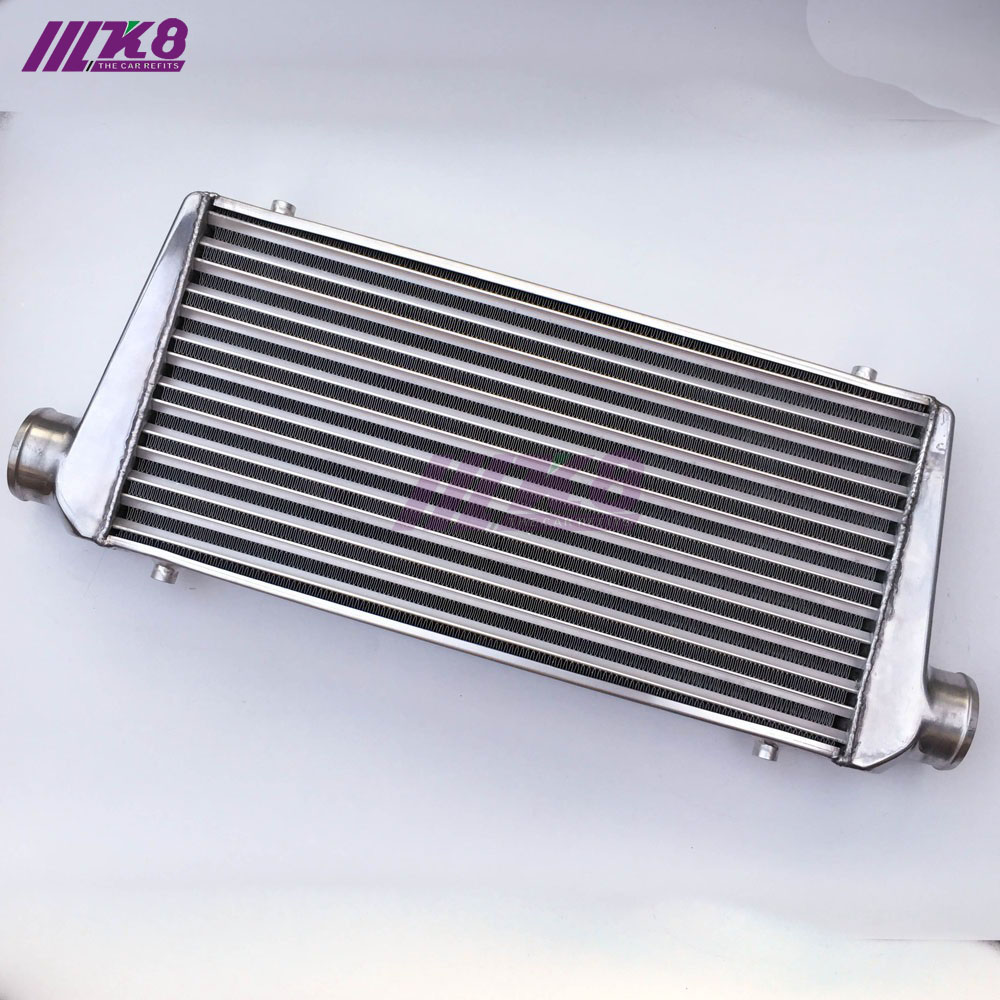 car-styling RACING 600*300*100mm Universal Turbo Intercooler bar&plate OD=76mm Front Mount intercooler universal black 3 76mm polished aluminum fmic intercooler piping kit diy pipe length 450mm for toyota supra jza80 hu lgtj76 450