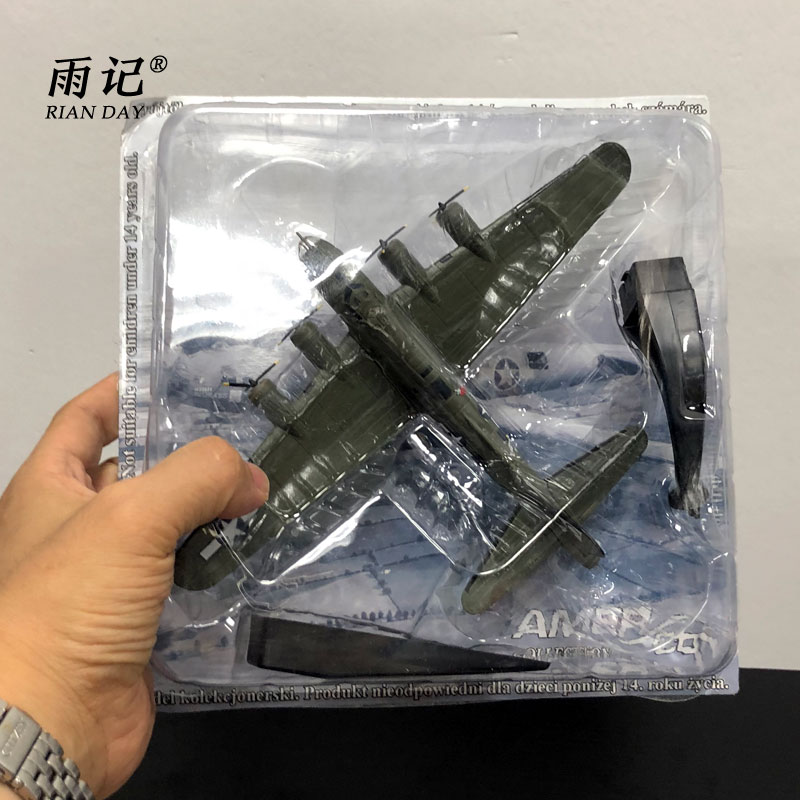 AMER 1/144 Scale Airplane Model Toys B-17F Flying Fortress B17 Bomber Fighter Diecast Metal Plane Model Toy For Gift/Collection