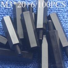 Горячая Распродажа 100 шт m3 резьба 20 мм + 6 фиксированная