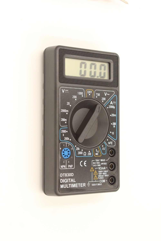 WHDZ DT-830D Mini Digitale Multimeter met Zoemer overbelasting Voltage Ampere Ohm Tester Probe DC AC LCD Zwart