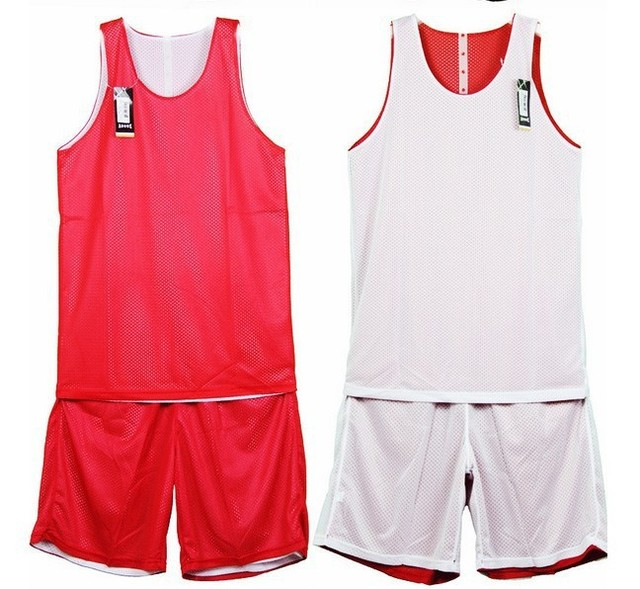 541828512b86 Hot sale youth adult basketball jerseys Basic Reversible Mesh tank top red  and white custom jerseys Free shipping
